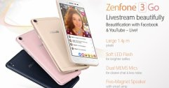 เผยสเปค ASUS Zenfone 3 Go มือถือรุ่นเล็ก Live สดหน้าสวย ลำโพงเทพ ราคาประมาณ 5,000 บาท