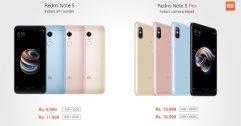 ตลาดแตก !! เปิดตัว Xiaomi Redmi Note 5 / Note 5 Pro สเปคคุ้ม ๆ ในราคาเริ่มต้นที่ 5,000 บาท !!