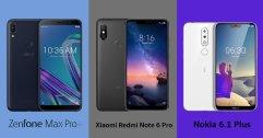 เปรียบเทียบสเปค Xiaomi Redmi Note 6 Pro, ASUS Zenfone Max Pro M1 และ Nokia 6.1