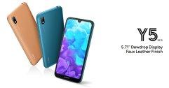 เปิดตัว Huawei Y5 2019 บนเว็บไซต์แล้ว สเปคระดับเริ่มต้น จอ 5.71 นิ้ว ฝาหลังลายหนัง