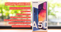 [Review] รีวิว Samsung Galaxy A50 มือถือสเปคคุ้ม กล้องเลนส์ไวด์ จอ sAMOLED ในราคา 11,490 บาท