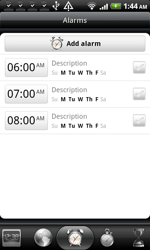 HTC DS HD Clock 2
