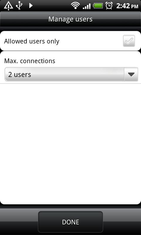 HTC DS HD WiFi Hotspot