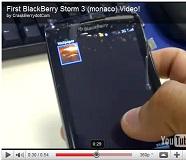 วีดีโอเปิดตัวครั้งแรกกับ BlackBerry Monaco หรือ Storm 3