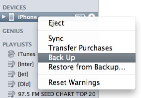 Backup iPhone4 2
