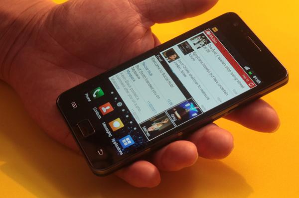 Galaxy S II close up