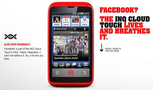"""คอ social ได้เฮ """"มือถือเฟซบุ๊ก"""" INQ Cloud Touch วางขายแล้ว"""