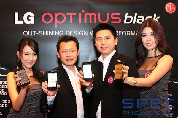 แอลจีเผยโฉม LG Optimus Black กับสุดยอดนวัตกรรมหน้าจอ NOVA พร้อมขายในงาน TME 2011 Hi end