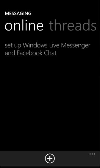 Windows Phone 7 เริ่มโดน : ตัวอัพเดท Mango เพิ่ม Facebook Chat เเละ MSN เข้าไปใน Message
