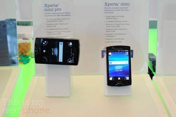 มาเเล้ว Sony Ericsson Xperia Mini เเละ Mini Pro ปรากฏตัวในงาน Google I/O