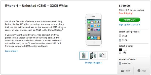 iPhone 4 Unlocked 32GB