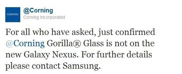 Corning ฟันฉับ Galaxy Nexus ไม่ได้ใช้กระจกกันรอย Gorilla Glass
