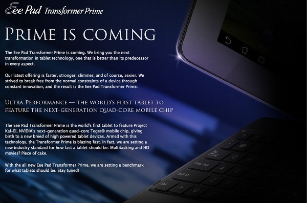 ยำข่าว Asus : แท็บเล็ตรุ่นใหม่คือ Transformer Prime, อัพเดท Android 4.0 ปลายปีนี้, Padfone ขายต้นปีหน้า