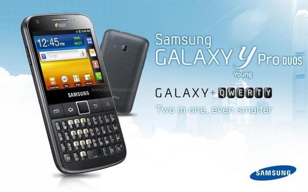 มือถือ Android สองซิมจากแดนกิมจิ Samsung Galaxy Y Pro Duos มาแน่ปีหน้า