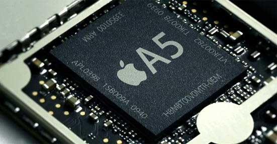 ipad 2 a5 processor thumb