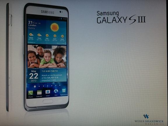 รูปเพรสช็อต (อีกรูป) ของ Galaxy S III น่าเชื่อถือ (กว่า) เปิดตัว 22 พฤษภาคม มีชัตเตอร์กล้อง