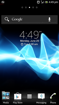 Sony NXT Android 4.0 2012 Interface