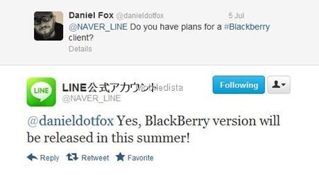 แอพแชทยอดนิยม Line เตรียมลง BlackBerry แล้วจ้า