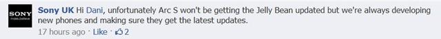 เครื่อง Sony Xperia ปี 2011 (อาจจะ) ไม่ได้รับอัพเดท Android 4.1 ทั้งหมด