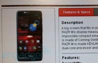 หลุดรายละเอียด Motorola Droid RAZR M ที่จะเปิดตัวเดือนหน้านี้
