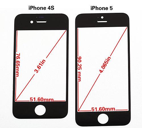 คลิปโชว์วัดขนาดว่าที่จอ iPhone 5 ทั้งความกว้าง และความหนาแบบชัดเจน