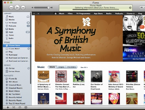 iTunes header