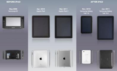หลักฐานเพิ่มเติมกรณีฟ้อง Apple – Samsung ทั้งแท็บเล็ตและไอคอนแอพผุดเพิ่ม