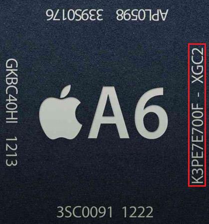 ฟันธง !! iPhone 5 มีแรมมาให้ 1 GB ยืนยันจากเลขรหัสบนชิป A6