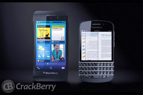 เผยโฉมหน้าเครื่อง BlackBerry 10 ทั้งเเบบสัมผัสเเละคีย์บอร์ด