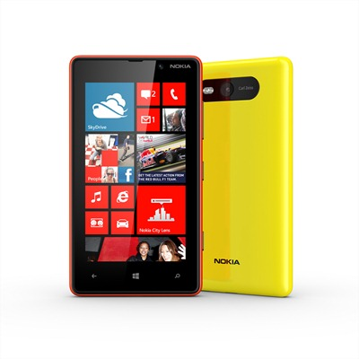 Nokia Lumia 820 Red and Yellow