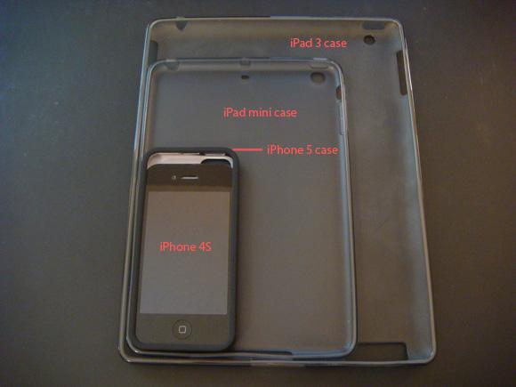 รูปเทียบขนาดเคส iPhone 5, iPad Mini และ iPad มาแล้ว เตรียมหาซื้อกันได้เร็วๆ นี้
