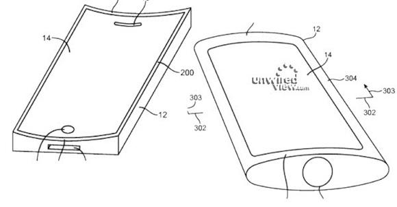 Apple ได้รับสิทธิบัตรใหม่ : จอ iPhone โค้งพร้อมลำโพงใต้จอและไมโครโฟนเลเซอร์