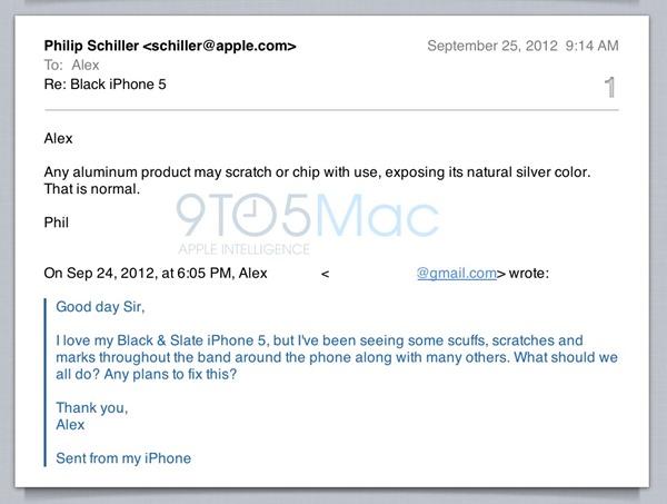 Apple บอกเรื่องสีลอกบน iPhone 5 เป็นธรรมชาติของอลูมิเนียม