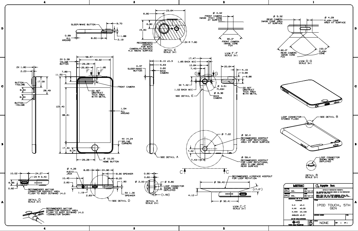 แผนผังการออกแบบ iPod Touch และ iPod Nano รุ่นใหม่ถูกเปิดเผยมาอีกแล้ว