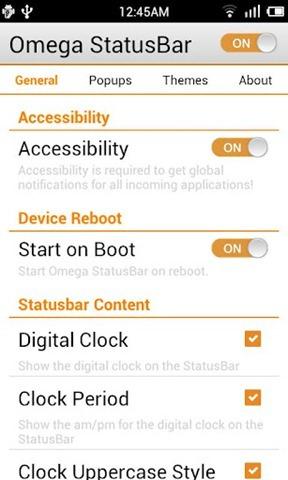 Omega StatusBar เปลี่ยนสเสตัสบาร์ง่ายๆ ไม่ต้องรูท