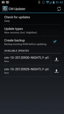 ขารอมโมเฮ CyanogenMod 10 เพิ่มความสามารถอัพเดทเเบบ OTA