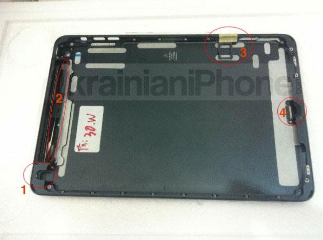ชิ้นส่วนว่าที่ iPad Mini หลุดมาอีกแล้ว ทั้งกรอบหน้า/หลัง และช่องใส่ Nano SIM