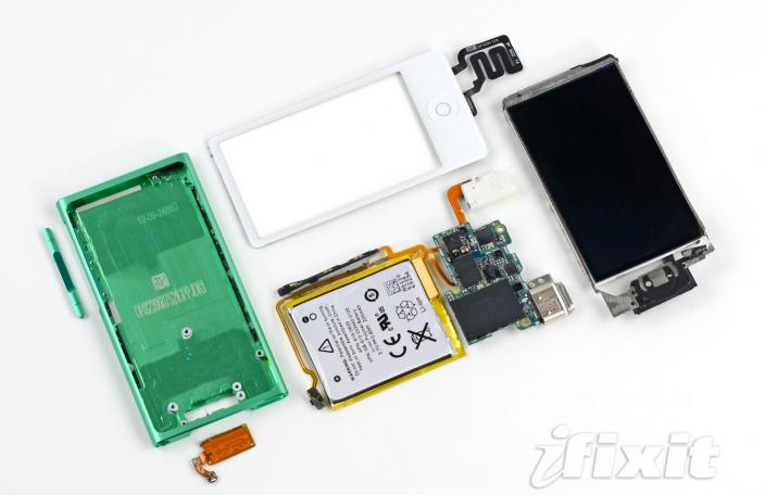 iPod Nano Gen 7 ถูก iFixit แกะเรียบร้อยแล้ว จัดให้ความง่ายในการเปลี่ยนอุปกรณ์อยู่ที่ระดับ 5/10