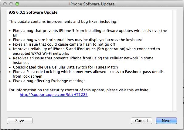 iOS 6.0.1 มาแล้ว พร้อมให้อัพเกรดได้ทั้ง iPhone, iPad และ iPod Touch