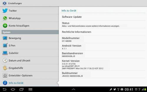 Samsung Galaxy Note 10.1 ได้รับอัพเดท Android 4.1 Jelly Bean เเล้ว