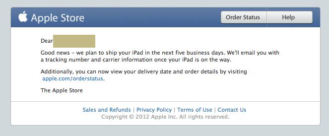 iPad mini รุ่น Cellular ในสหรัฐฯ จะเริ่มจัดส่งในอีก 5 วันทำการ มาพร้อม iOS 6.0.1 ในตัว