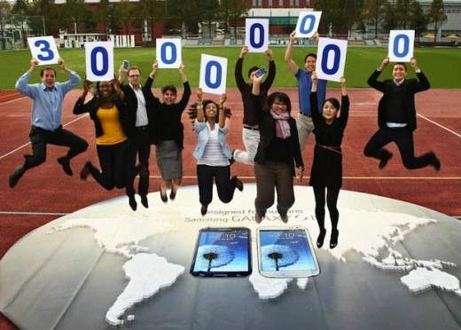 Samsung เผยยอดขาย Galaxy Note เเตะหลัก 3 ล้าน Galaxy S III ทะลุ 30 ล้านเครื่องเเล้ว