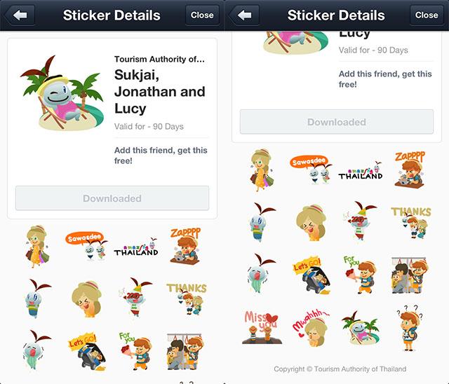 สติ๊กเกอร์ LINE ฟรีชุดใหม่ของไทยมาอีกแล้ว ทั้งจาก Sukjai และ Mogu Mogu