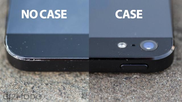 เปรียบเทียบสภาพ iPhone 5 แบบใส่กับแบบไม่ใส่เคส หลังใช้งานผ่านไปสองเดือน