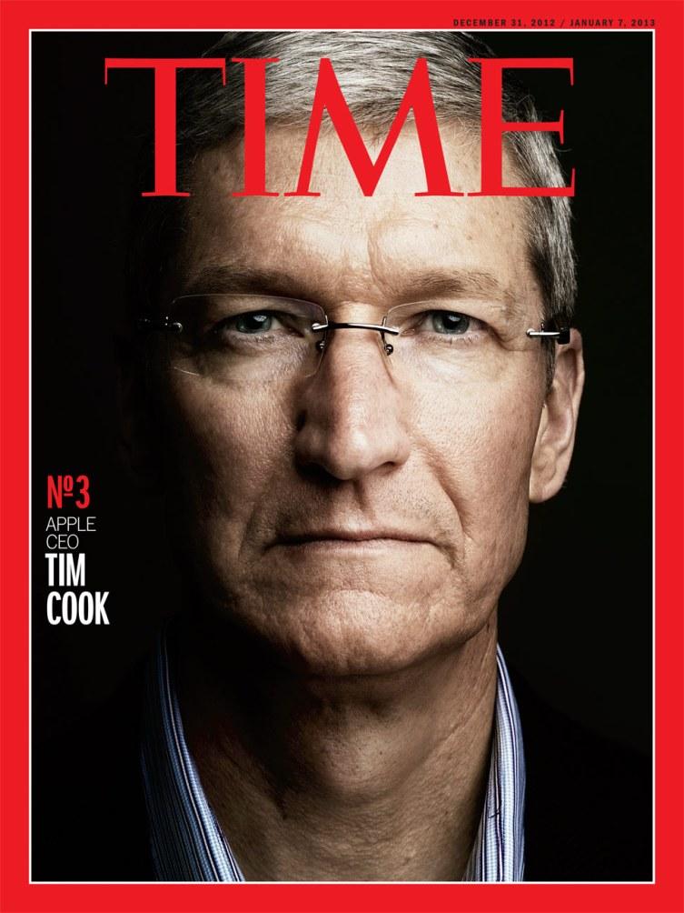 นิตยสาร TIME ประกาศให้ Tim Cook เป็นบุคคลอันดับสามของโลกในปีนี้