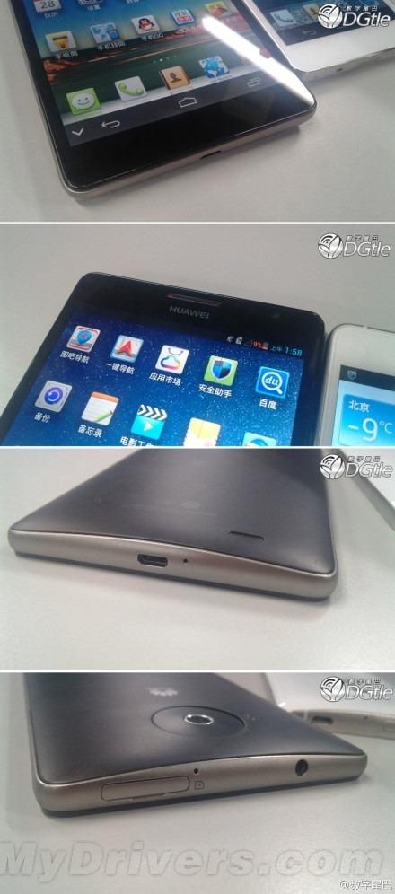 ปรากฏรูปเครื่องจริง Huawei Ascend Mate หน้าจอ 6.1 นิ้ว ความละเอียด 1080p
