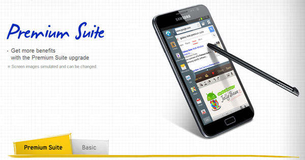 Samsung ยืนยัน มี Premium Suite สำหรับ Android 4.1 บน Galaxy Note รุ่นเเรกด้วย