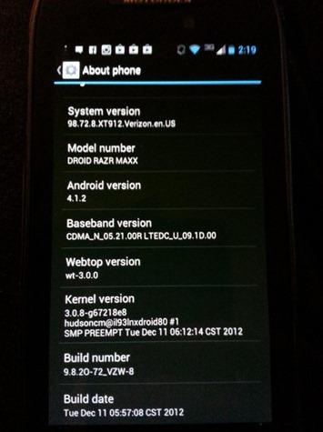 Motorola ออกอัพเดท Android 4.1 ให้กับ Motorola Droid RAZR เเละ RAZR Maxx เเล้ว