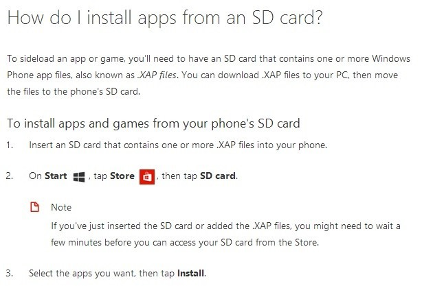 Microsoft ยอมเปิดให้ผู้ใช้ติดตั้งเเอพลิเคชันนอก Marketplace ได้เหมือนบน Android เเล้ว