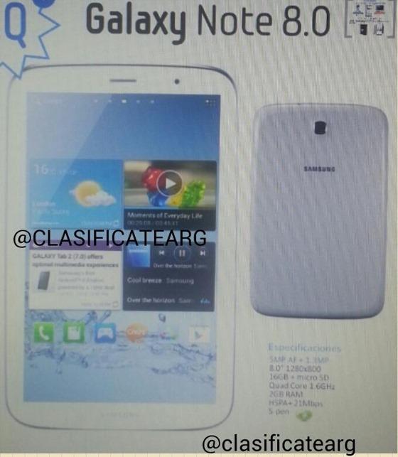 ปรากฏรูปเครื่อง Galaxy Note 8.0 ดีไซน์โค้งมนตามรุ่นพี่ Galaxy S III และ Note II